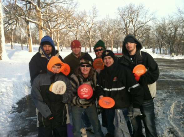 Des Moines Frisbee Golf in the Snow